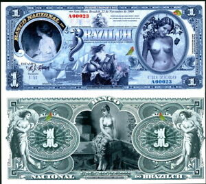 SET OF 3 DIFFERENT BEAUTIFUL BRAZILCH TOPLESS LADY NOTES - HALF PRICE SPECIAL!