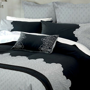New-Canterbury-Marnie-Charcoal-Silver-QUEEN-Size-Quilt-Doona-Cover-Set
