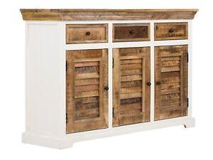 Büromöbel schrank holz  Sideboard Schrank massiv Holz Mango Kommode Möbel Wohnen massivum ...