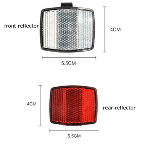 Road Cycle Bike Bicycle Reflector Light Reflective Strips Stick Front Rear Kit