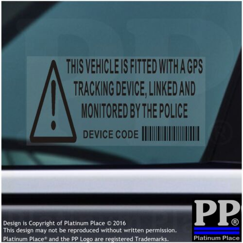 Coche Vehículo 5x Furgoneta Taxi-Negro-Pegatinas De Seguridad-GPS Rastreador-signos de alarma Advertencia