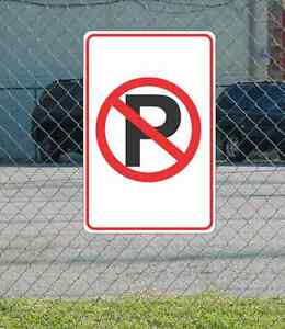 "No Parking Symbol METAL 12""x18"" SIGN Red Black & White"
