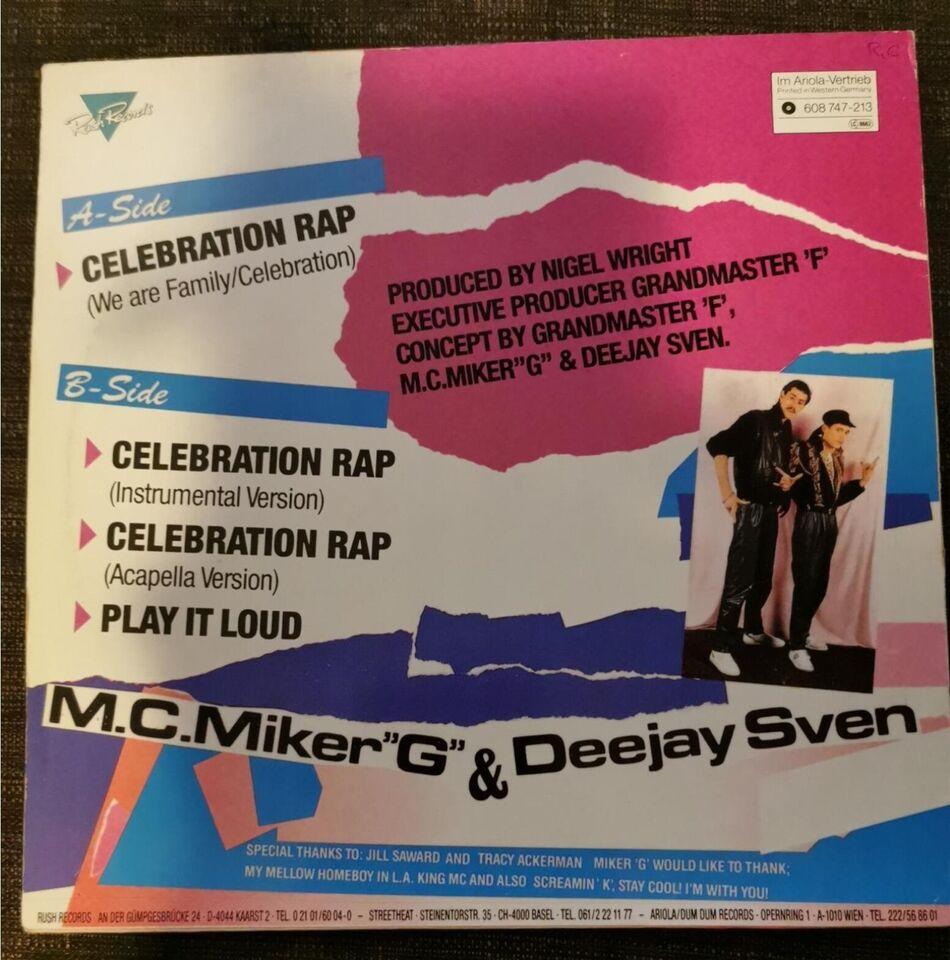 "Maxi-single 12"", M.C.Miker""G"" & Deejay Sven, Celebration"