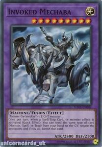 SHVA-EN041-Invoked-Mechaba-Super-Rare-1st-Edition-Mint-YuGiOh-Card