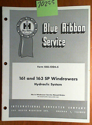 IH International Harvester McCormick 161 SP Windrower Hydraulic System Manual 56