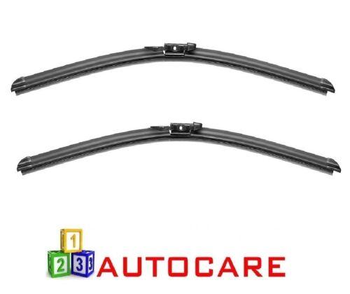"""24/""""//22/"""" Front pince onglet Aero Plat Balais d/'essuie-glace pour BMW 5 série 03-10"""