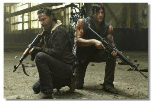 Poster The Walking Dead Season 4 5 TWD Rick Daryl Art Wall Cloth Print 506