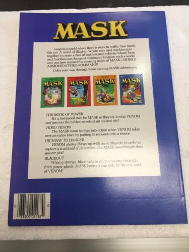 1986 M.A.S.K BLACKOUT UNUSED COLORING BOOK KENNER NOS TRAKKER T-BOB