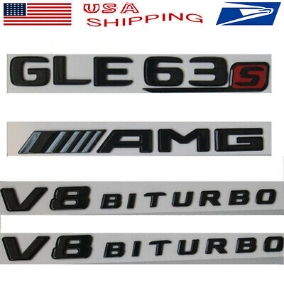 2 BRAND NEW Chrome V8 BiTurbo Badge Emblems fits Mercedes Benz Biturbo