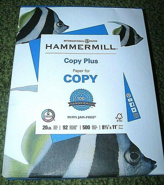 "HAMMERMILL ""Copy Plus"" Paper (500 Sheets) 8.5"" x 11"" (92 brightness)Bright White"