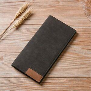 Men-039-s-PU-Leather-Wallet-Clamps-Purse-Cash-Clip-Billfold-Clutch-Multi-functional