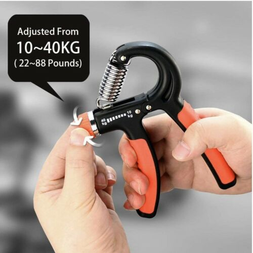 Hand Grip Strength Power Trainer Gripper Strengthener Adjustable Gym Exerciser
