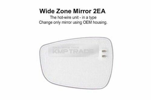 W-Zone Blind Spot Multi Curved Side Mirror LH+RH for KIA 2008-2013 Soul
