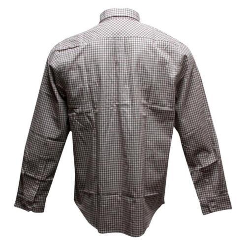 HUFBU03GHMBRN brown $67.99 HUF Gingham Shirt