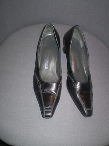 100% De Qualité Michel-ange En Cuir Noir Cour Chaussures Taille 39