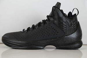 new concept fc832 01c21 Image is loading Nike-Air-Jordan-Melo-M11-Black-Metallic-Silver-