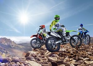 Awesome-Motorcross-Bikers-Poster-Size-A4-A3-Sports-Bike-Poster-Gift-8570