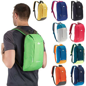 QUECHUA men women hiking day backpacks sports bags travel 10 L ...