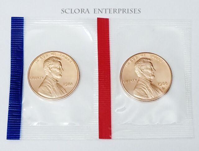 1988 P/&D Lincoln Memorial Pennies