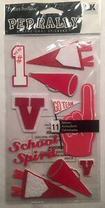 Jolee/'s Boutique-Pep Rally Orange Football Uniform-Dimensional Stickers