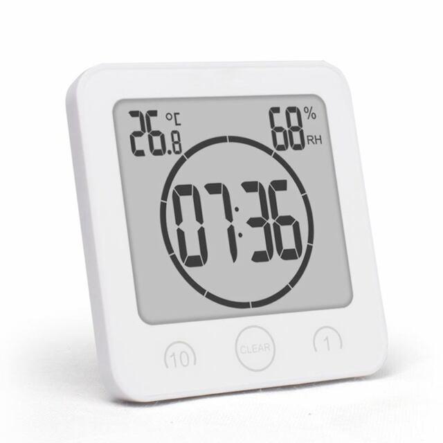 Bathroom clock waterproof shower clock timer sucker digital LCD display the X9P4