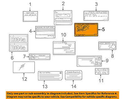 TOYOTA OEM 98-99 Camry Labels-Vacuum Hose Diagram ...