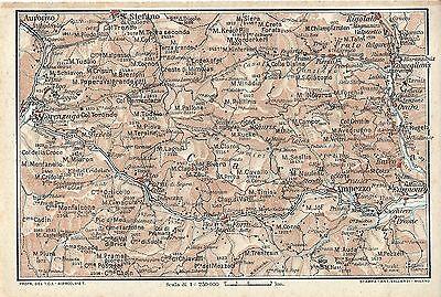 Cartina Geografica Carnia.Carta Geografica Antica Carnia Occidentale Udine Tci 1920 Old