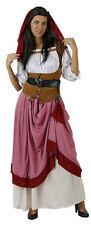Déguisement Femme Servante Médiévale Rose M/L 40/42 Costume Adulte Paysanne