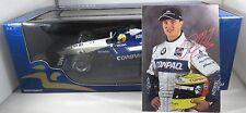 WILLIAMS BMW FW23 #5 Ralf SCHUMACHER F1 2001 race version + CARD MINICHAMPS 1:18