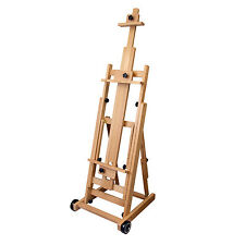 US Art Supply Multi-Function Studio Artist H-Frame Artist Easel Beechwood
