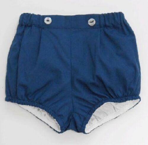 Spanish Boys Shorts Sardon Navy Grey Blue Boys Spanish Shorts -3-36 Months