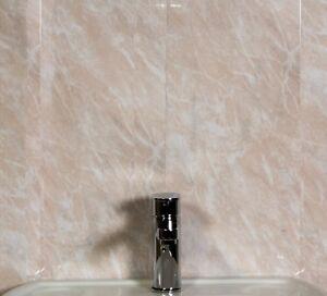 13 beige marble bathroom wall panels upvc shower wet room