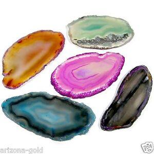 FIVE-Agate-Slices-Geode-Polished-Slab-Crystal-Quartz-Brazil-Randomly-Selected