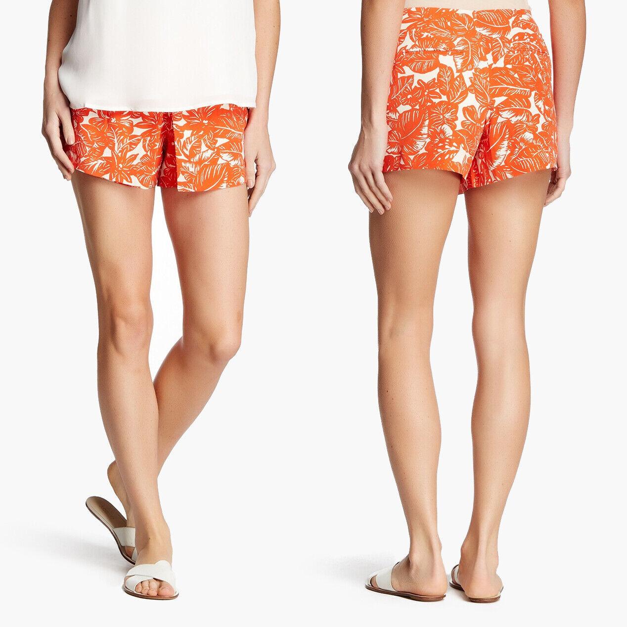 NWT Joie orange White Women's Marlana Tropical Floral Print Shorts Size 4