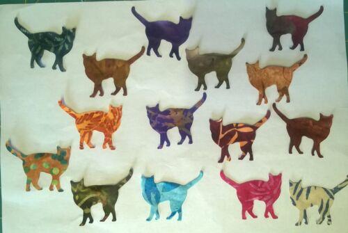 Paquete De Tela de batik Petite Gatos restos de telas Patchwork Lote 100/% algodón