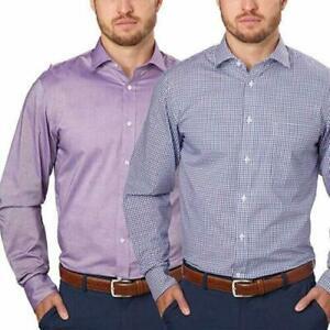 Tommy-Hilfiger-Men-039-s-Regular-Fit-Dress-Shirt-2-Pack