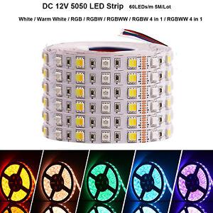 12V-led-strip-5050-RGB-RGBW-RGBWW-4in-1-5m-300led-Flexible-Tape-Light-Waterproof