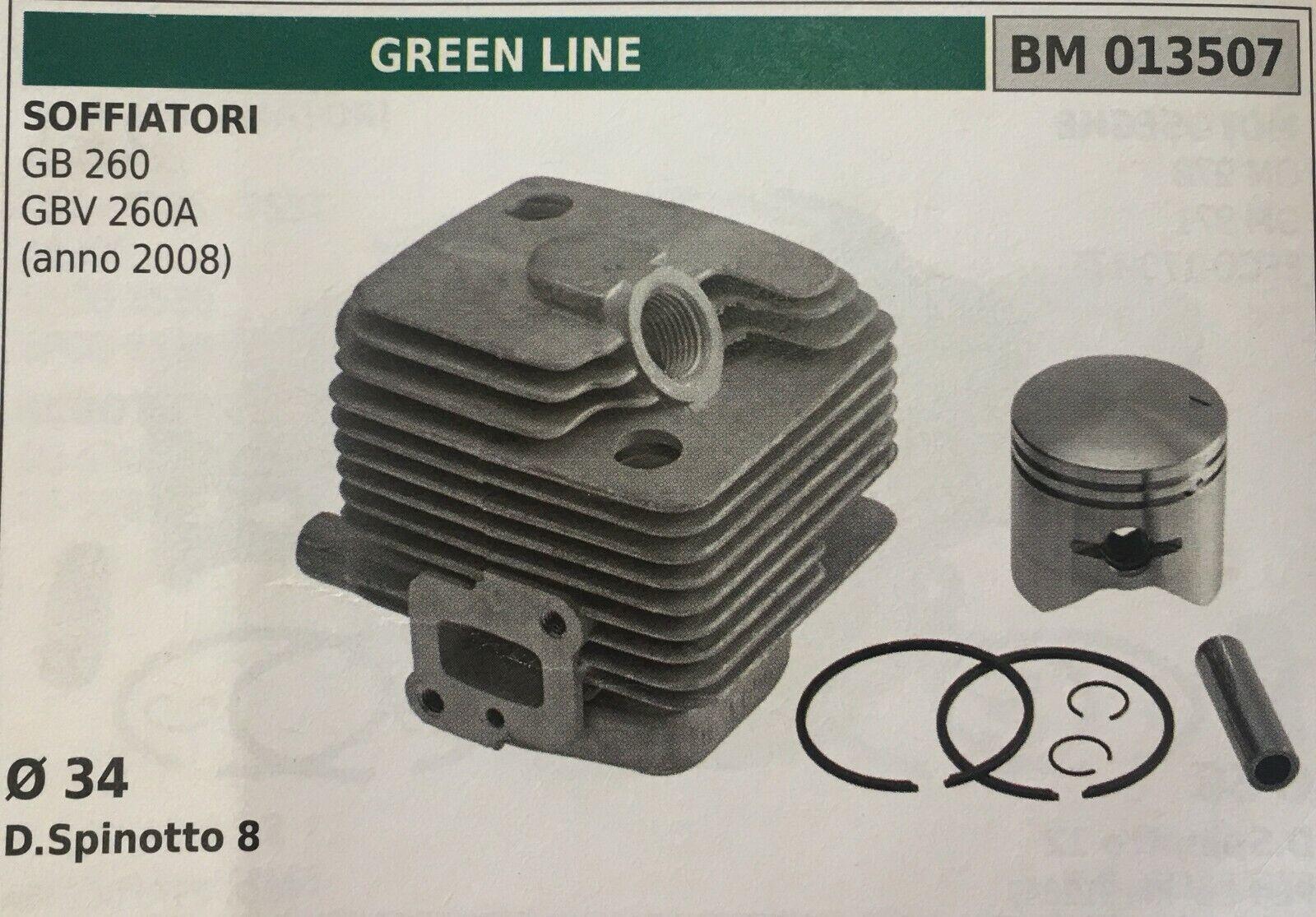 CILINDRO COMPLETO DI PISTONE E SEGMENTI BRUMAR BM013507 verde LINE