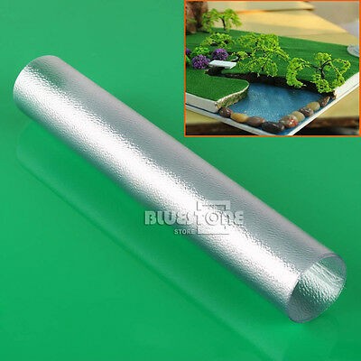 4 pcs WATER SHEETS clear textured plastic 55x25CM for Train Railway Model