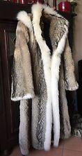 Fuchs Pelzmantel Weißfuchs 200cm Saumweite Fox Fur Coat mit Kapuze 38-40-42