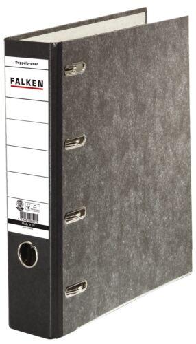 2 x Doppelordner Falken 2x A5 quer 70 mm Wolkenmarmor schwarz für Kontoauszüge