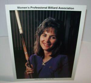 Dawn-Hopkins-Women-039-s-Professional-Billiard-Signed-Autograph-Photo-Pool-Vintage