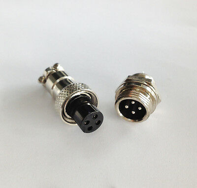 New M12 12mm 5 Pin Screw Type Electrical Aviation  Plug Socket  Connector