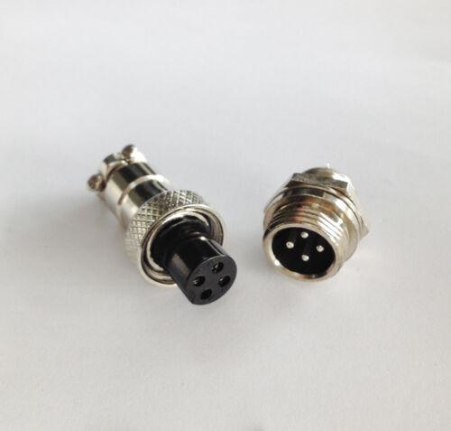 M12 12mm 4 Pin Screw Type Electrical Aviation Plug Socket  Vc Nice