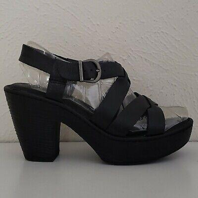 Born Womens Earvin Black Leather