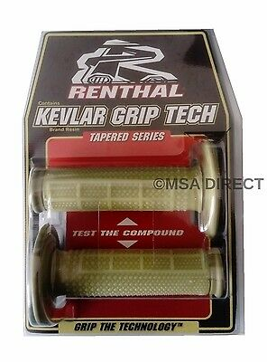 Motocross Grips Renthal Dual Compound Tapered Reinforced MX Pair