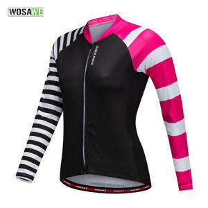 Women-Cycling-Jersey-MTB-Road-Bike-Shirts-long-Sleeve-Elastic-Breathable-Tops