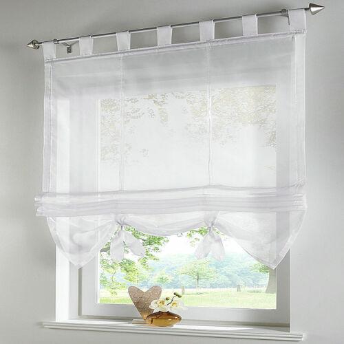 Gardine Vorhang Fenstervorhang Raffrollo Scheibengardinen Schlaufen Curtain New