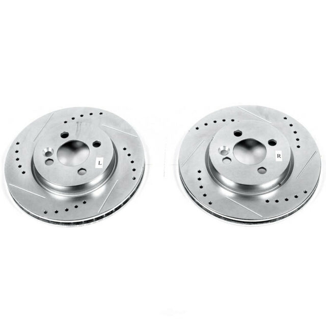 POWER PERFORMANCE DRILLED SLOTTED PLATED BRAKE DISC ROTORS 45479PS FRONT+REAR