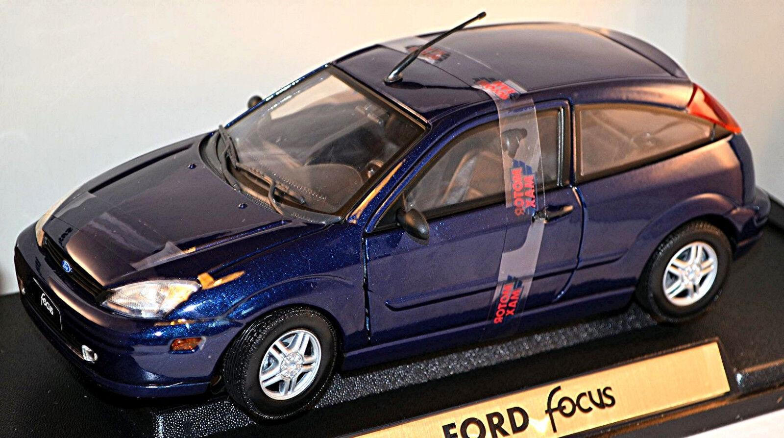 Ford Focus '98 Dreitürer 1998-2001 blau Blau metallic 1 18 Motor Max    König der Quantität